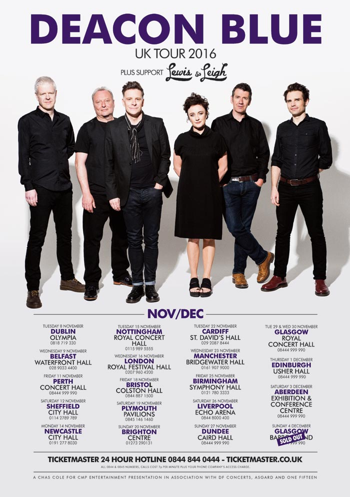 Deacon Blue UK Tour Dates